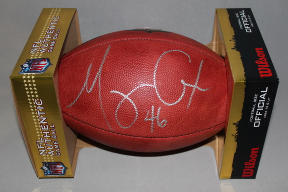 NFL - RAVENS MORGAN COX SIGNED AUTHENTIC FOOTBALL