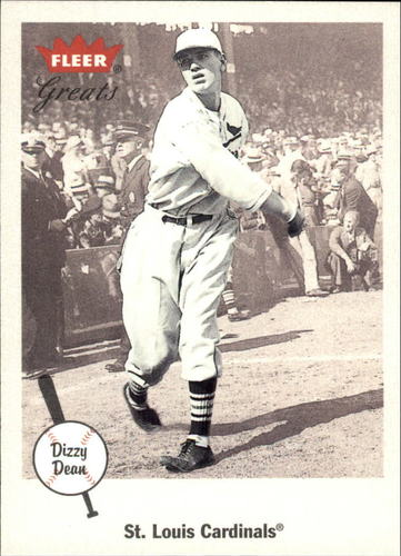 Photo of 2002 Greats of the Game #62 Dizzy Dean-- Hall of Fame Class of 1953
