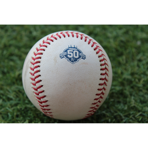 Photo of Game-Used Baseball: Kevin Pillar 607th Career Hit and 217th Career RBI (TOR @ KC - 8/15/18)