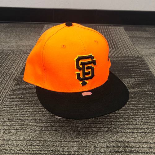 Photo of San Francisco Giants - 2018 Game Used Players Weekend Cap - #19 Alen Hanson - Size 7 3/8