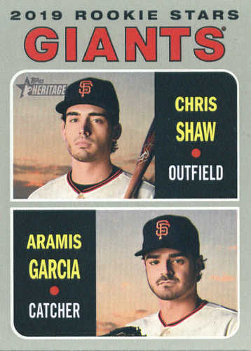 Photo of 2019 Topps Heritage #349 Chris Shaw RC/Aramis Garcia RC