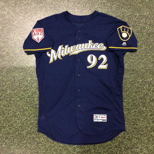 Photo of Payton Henry 2019 Team-Issued Spring Training Jersey (Milwaukee Brewers #10 Prospect)
