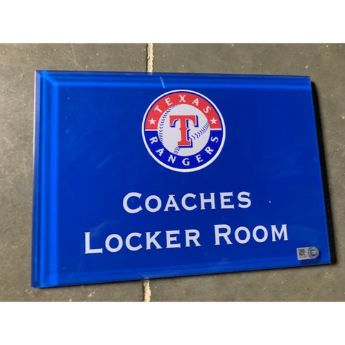 Photo of Home Clubhouse Door Sign - COACHES LOCKER ROOM