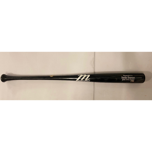 Photo of Dansby Swanson Game Used Cracked Bat - July 28, 2020 - Braves at Rays