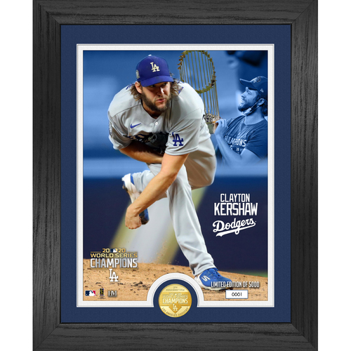 Photo of Serial #1! 2020 World Series Bronze Coin Photo Mint - Clayton Kershaw