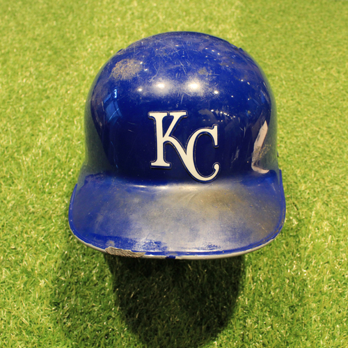 Photo of Game-Used Helmet: Alex Gordon #4 (MIN @ KC 9/28/19)