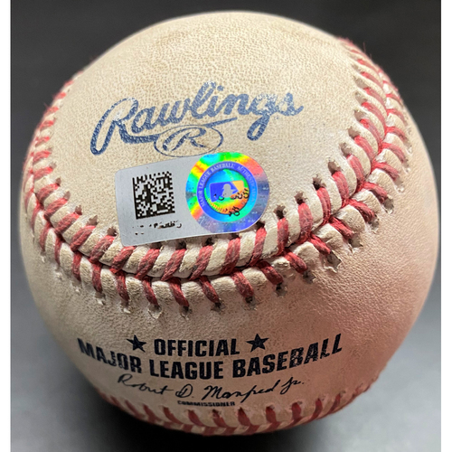Photo of Game-Used Baseball: 2020 Opening Day Game-Used Baseball with Opening Day Logo Tigers at Reds 7/24/20 - Castellanos HBP RBI (MLB AUTHENTICATED)