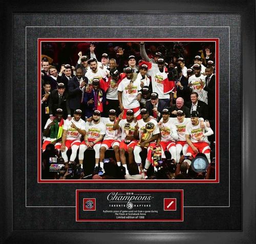 16x20 Raptors NBA Champions Celebration Photo Framed (L/E of 1000)