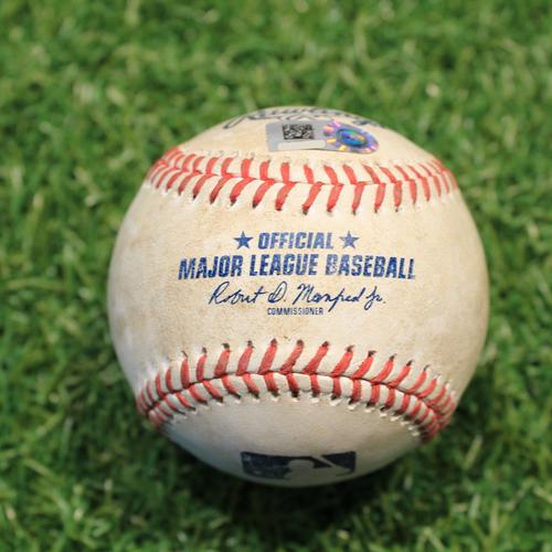 Photo of Game-Used Baseball: Josh Palacios 7th Career Hit (TOR@KC 4/17/21 Game 2)