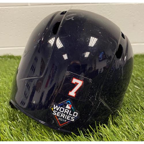 Photo of Trea Turner Helmet with World Series Decal