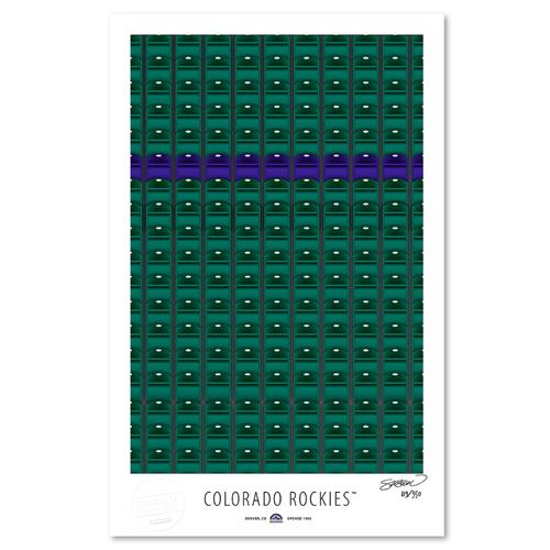Photo of Colorado Rockies - Collector's Edition Minimalist Art Print by S. Preston Limited Edition /350  -Colorado Rockies