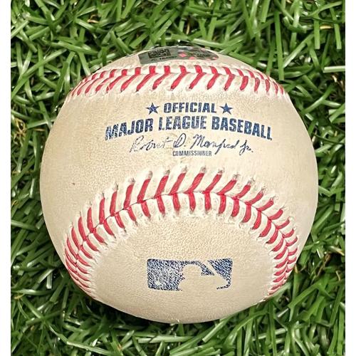 Photo of Game Used Baseball: DJ LeMahieu single off Michael Wacha - Top 3 - July 28, 2021 v NYY