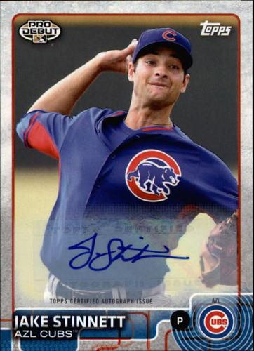 Photo of 2015 Topps Pro Debut Autographs #139 Jake Stinnett