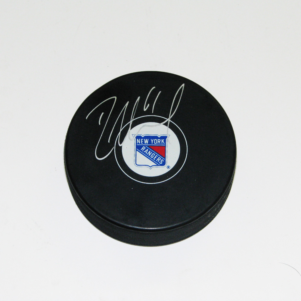 RICK NASH Signed New York Rangers Puck