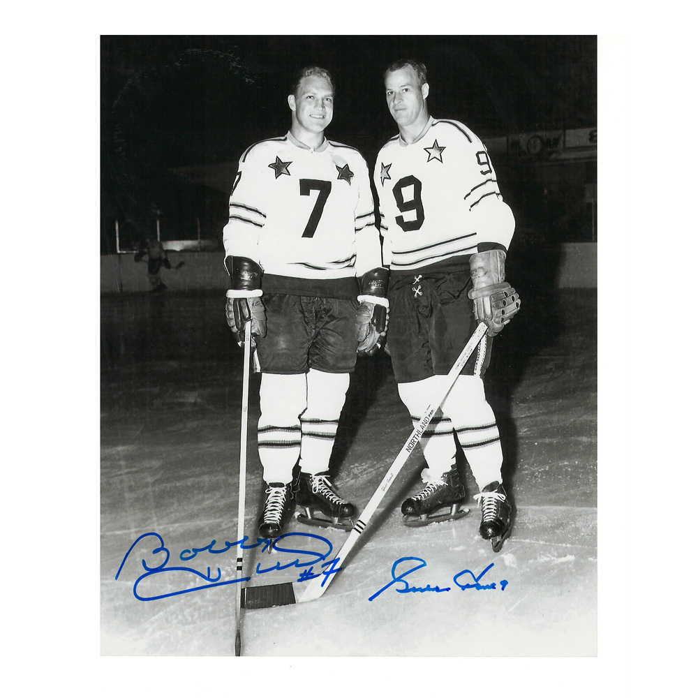 BOBBY HULL and GORDIE HOWE Signed NHL All Star Game 8 X 10 Photo - 70200
