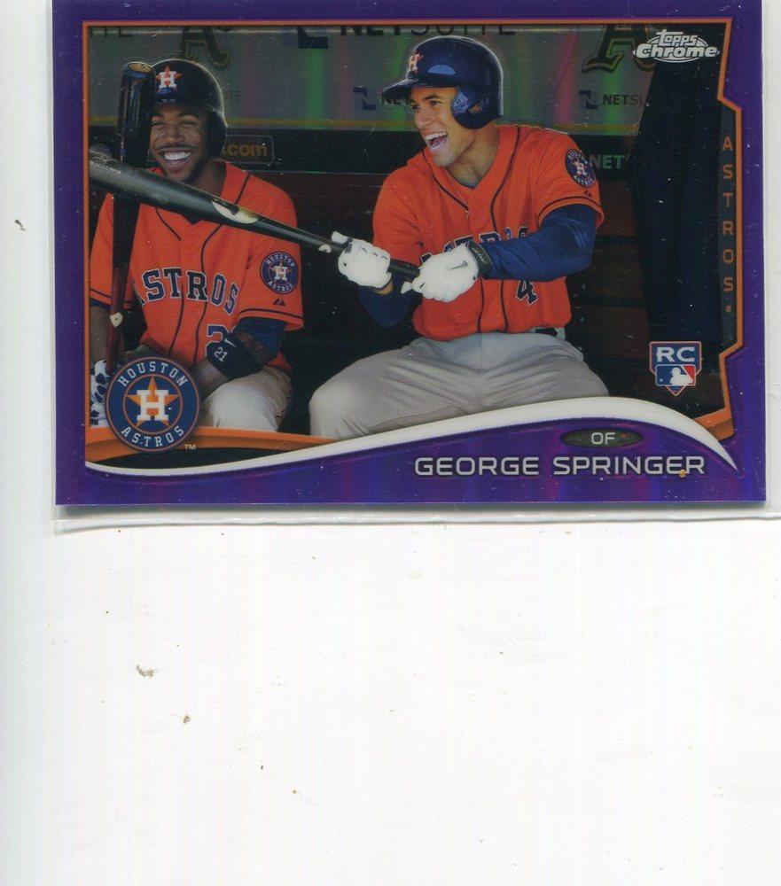 2014 Topps Chrome Purple Refractors #138 George Springer