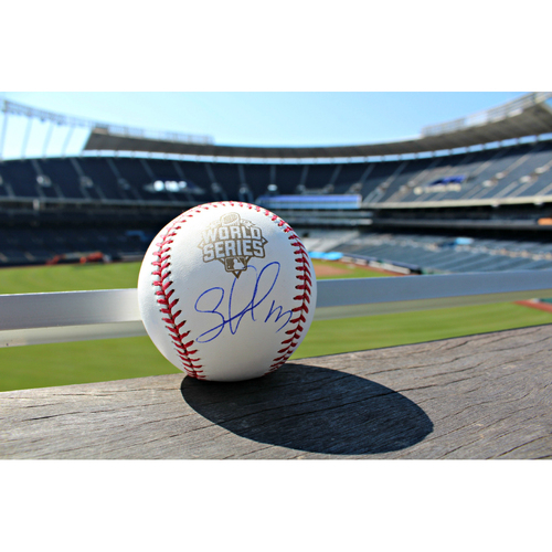 2015 World Series Ball Autographed by Salvador Perez