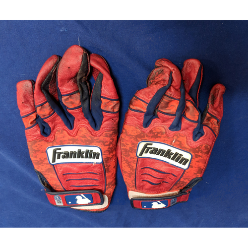Photo of Justin Upton Marked Franklin Batting Gloves Team-Issued
