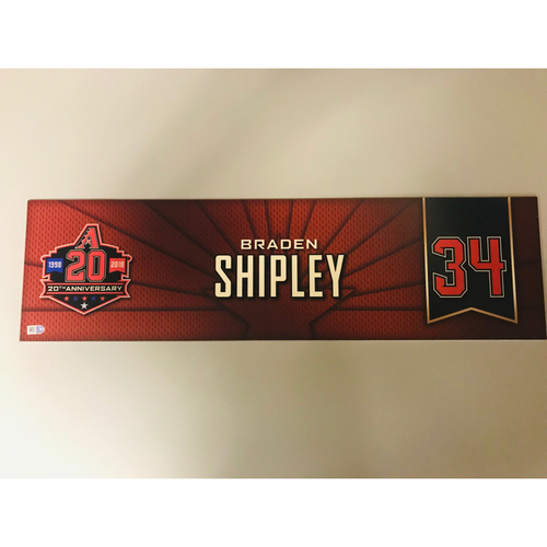 Photo of Braden Shipley Team-Issued 2018 Nameplate