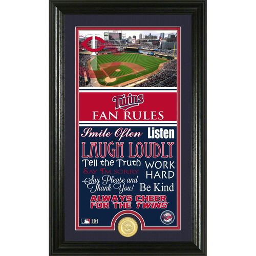 Photo of Minnesota Twins Fan Rules Supreme Bronze Coin Photo Mint