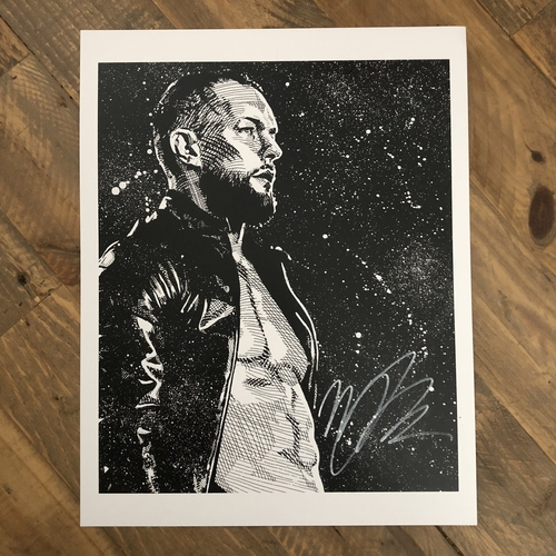 Photo of Finn Balor  SIGNED 11 x 14 Rob Schamberger Print (2020 Collection)