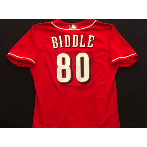 Photo of Jesse Biddle -- 2020 Spring Training Jersey -- Team-Issued -- Size 44
