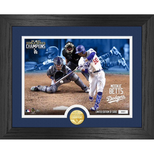 Photo of Serial #1! 2020 World Series Bronze Coin Photo Mint - Mookie Betts