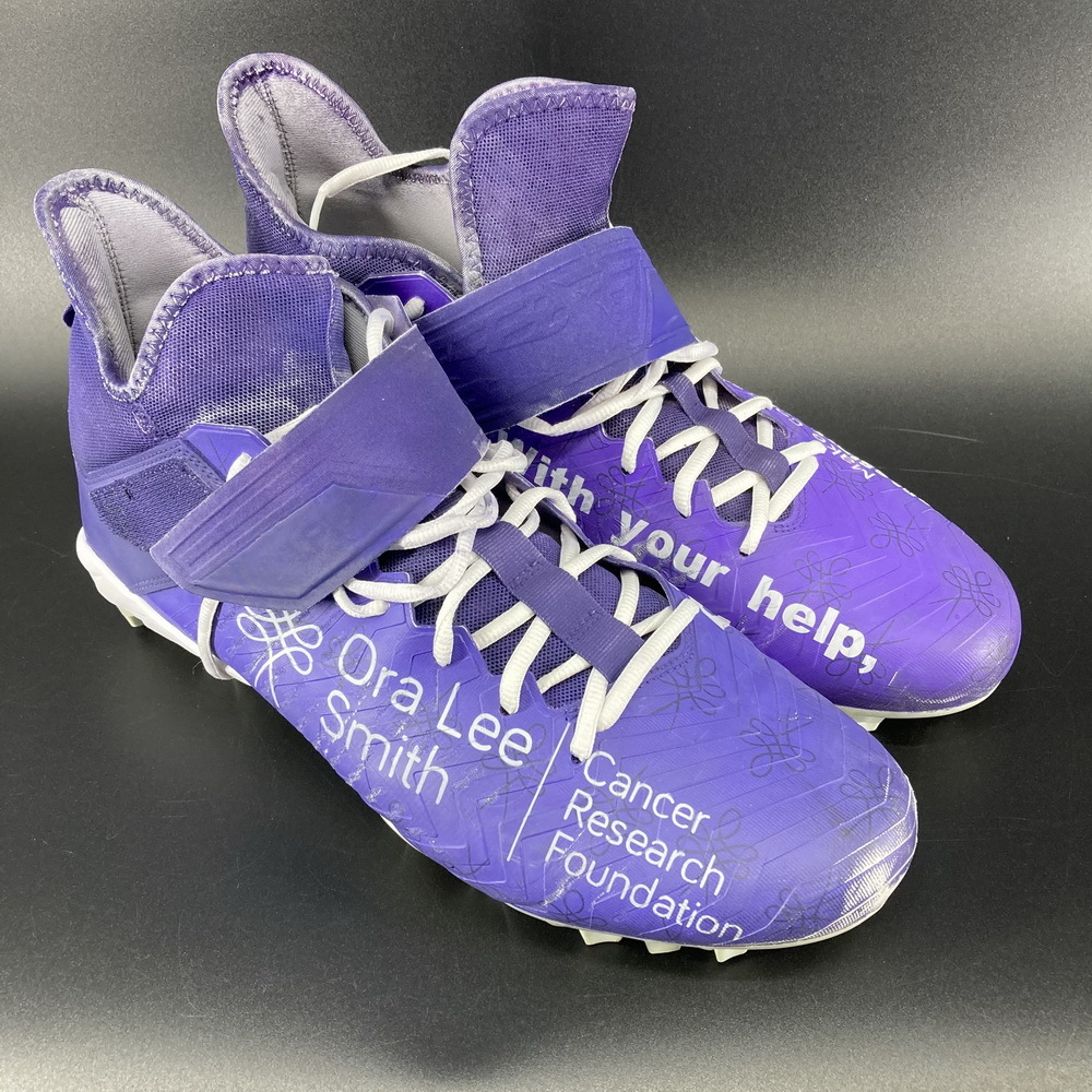 My Cause My Cleats - Jets Bryce Huff Game Used Cleats 2020