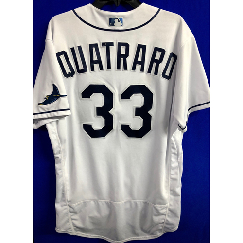 Photo of Game Used ALCS Game #7 Home White Jersey: Matt Quatraro - October 17, 2020 v HOU