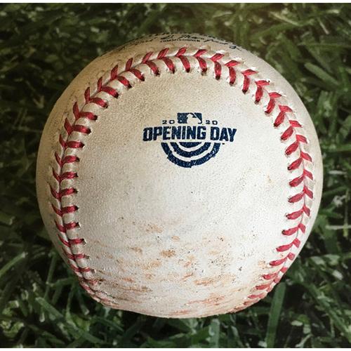 Photo of Game-Used Home Opener Baseball CHW@MIL 08/03/20 - Matt Foster - Logan Morrison: Foul