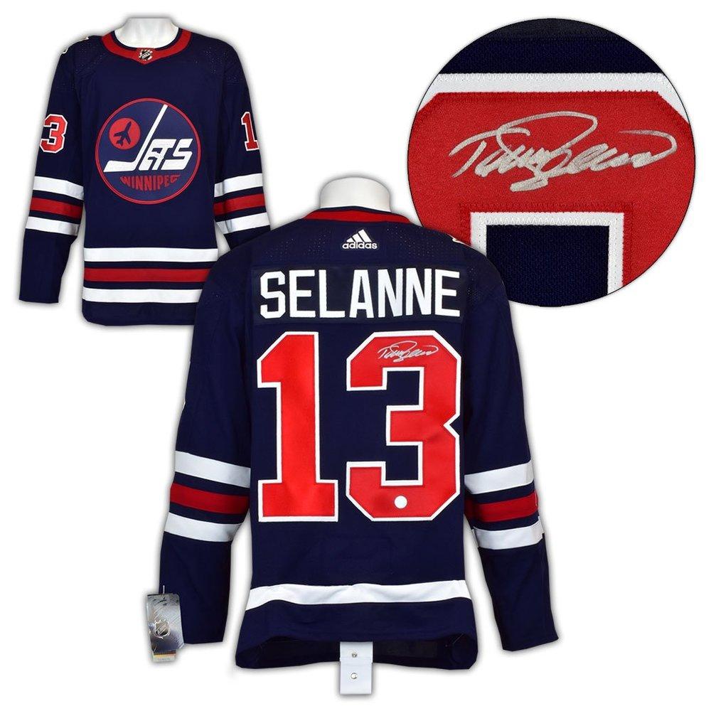 Teemu Selanne Winnipeg Jets Autographed Vintage Adidas Jersey