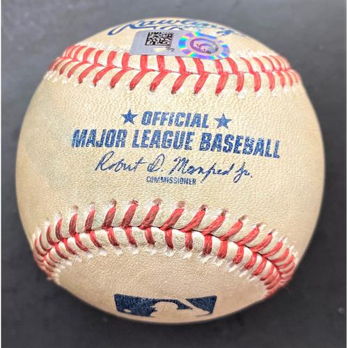 Photo of Game-Used Baseball:  Andrew Benintendi and Hunter Dozier Kansas City Royals Singles (MLB AUTHENTICATED)