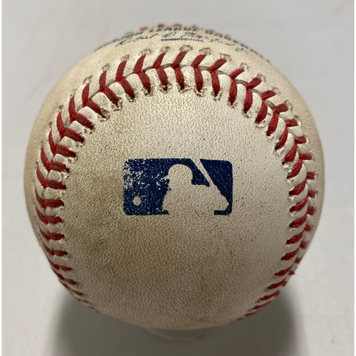 Photo of 2021 Game Used Baseball used on 8/13 vs. COL - T-6: Jackson to Diaz - Strike Out Swinging