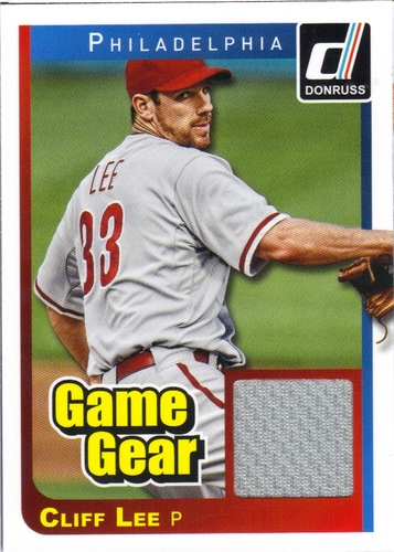 Photo of 2014 Donruss Game Gear #22 Cliff Lee