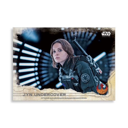 Jyn Undercover 2016 Star Wars Rogue One Series One Base Poster - # to 99