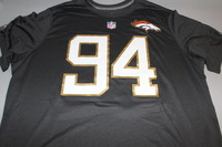 NFL - BRONCOS DEMARCUS WARE 2016 PRO BOWL DARK GRAY T-SHIRT WITH NAME AND NUMBER - SIZE 2XL