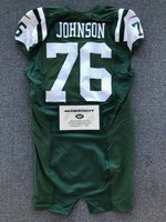 New York Jets - 2016 #76 Wesley Johnson Game Worn Jersey