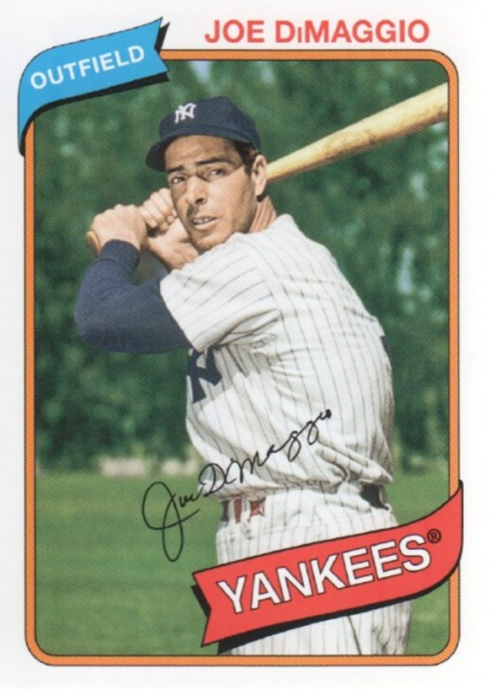 2012 Topps Archives #138 Joe DiMaggio-- Hall of Fame Class of 1955