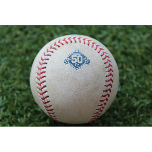 Photo of Game-Used Baseball: Yadier Molina 350th Career Double (STL @ KC - 8/10/18)