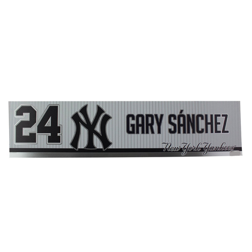 Photo of Gary Sanchez New York Yankees 2019 Game Used #24 Locker Room Nameplate (4/3/2019)