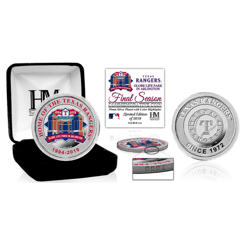 Photo of Globe Life Park Final Season Color Silver Coin