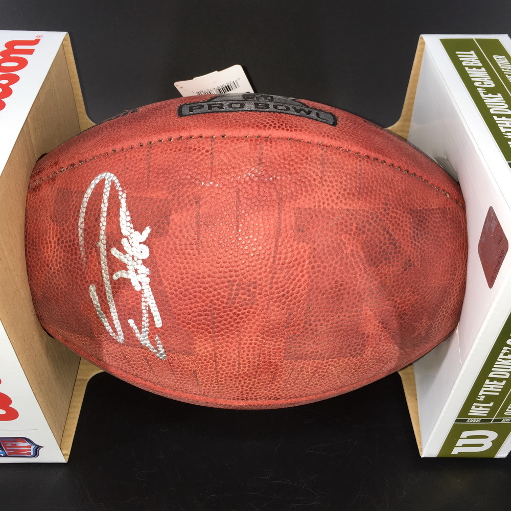 NFL - Colts Eric Ebron Signed Authentic Football