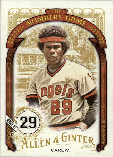 Photo of 2016 Topps Allen and Ginter The Numbers Game #NG85 Rod Carew