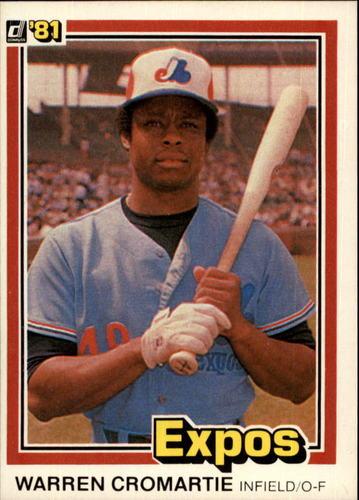 Photo of 1981 Donruss #332 Warren Cromartie