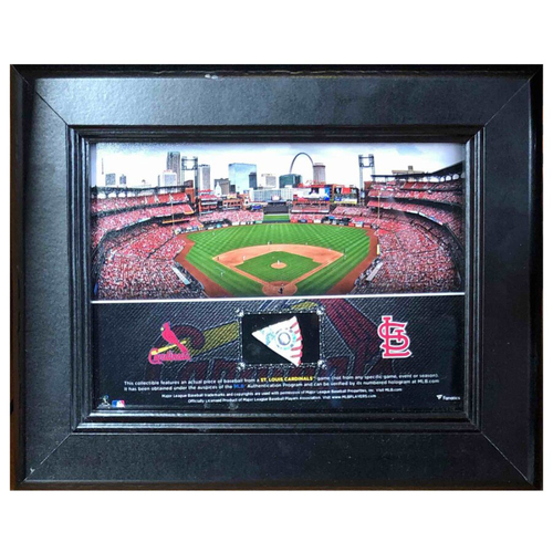 Photo of Cardinals Authentics: Busch Stadium Frame with Game Used Baseball