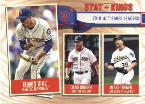 Photo of 2019 Topps Big League #369 Blake Treinen/Craig Kimbrel/Edwin Diaz
