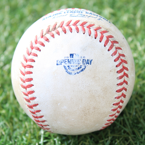 Photo of Game-Used Opening Day Baseball: Batter - Perez, Pitcher - Keuchel, Single, Bottom 5 (7/31/20 CWS @ KC)