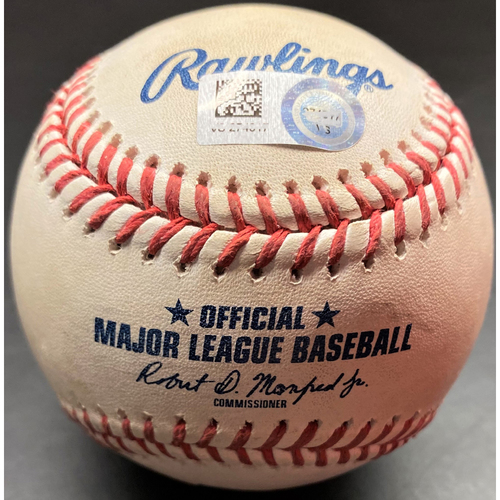 Photo of Game-Used Baseball: Tyler Alexander Detroit Tigers Strikeout #4 of Record 9 Consecutive 8/2/20 (MLB AUTHENTICATED)