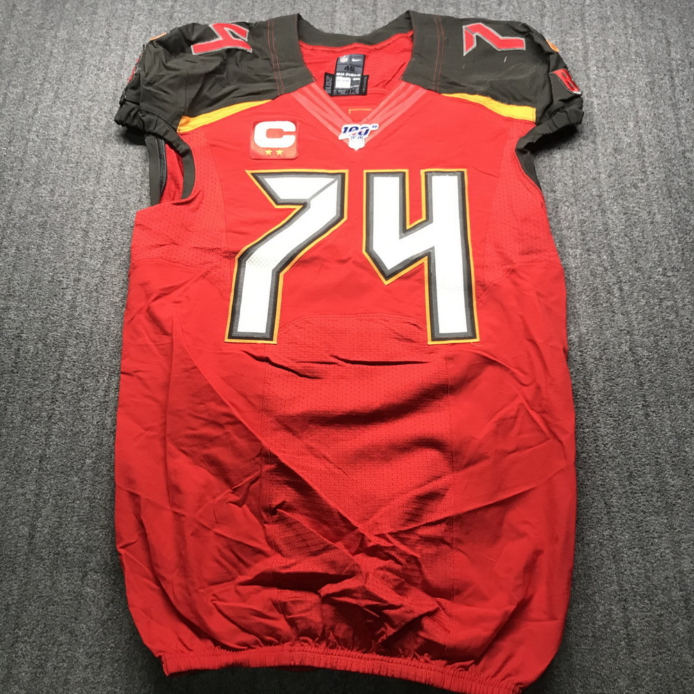 NFL Auction | London Games - Buccaneers Ali Marpet Game Used ...
