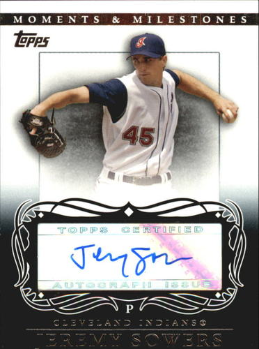 Photo of 2007 Topps Moments and Milestones Milestone Autographs #JS Jeremy Sowers A